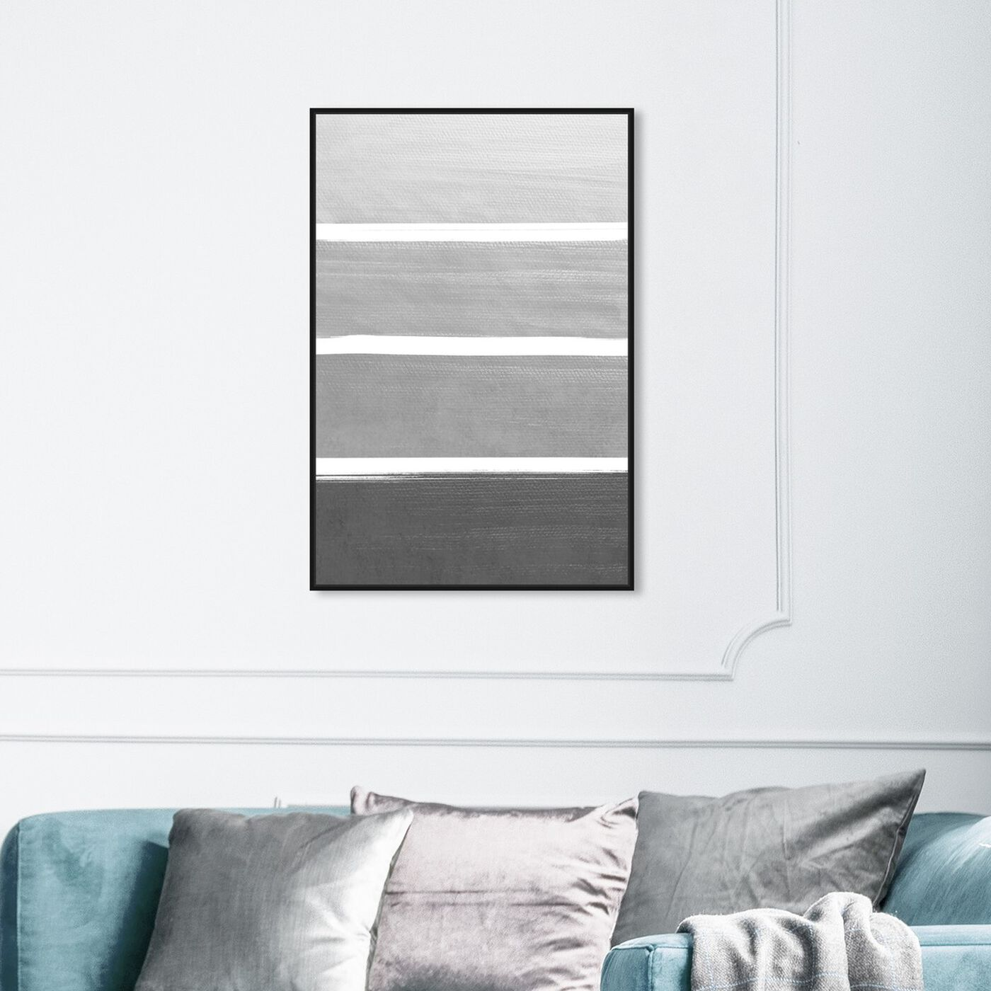 Hanging view of The Right Shade of Grey featuring abstract and paint art.