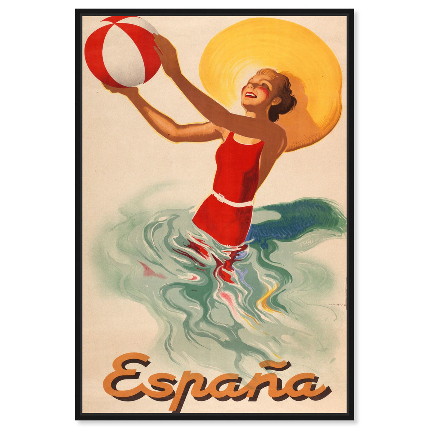 Front view of Espana Playa 1920s featuring advertising and posters art.