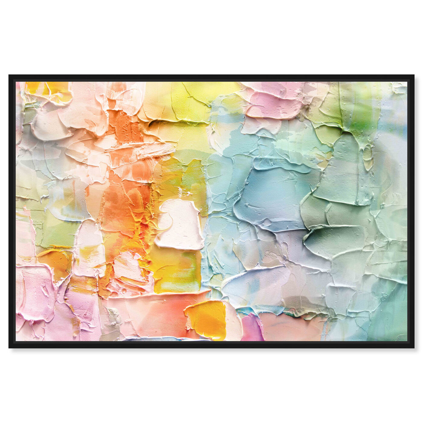 Front view of Morning Singing featuring abstract and textures art.