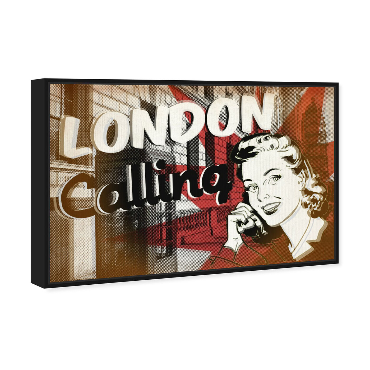Angled view of London Calling featuring advertising and posters art.