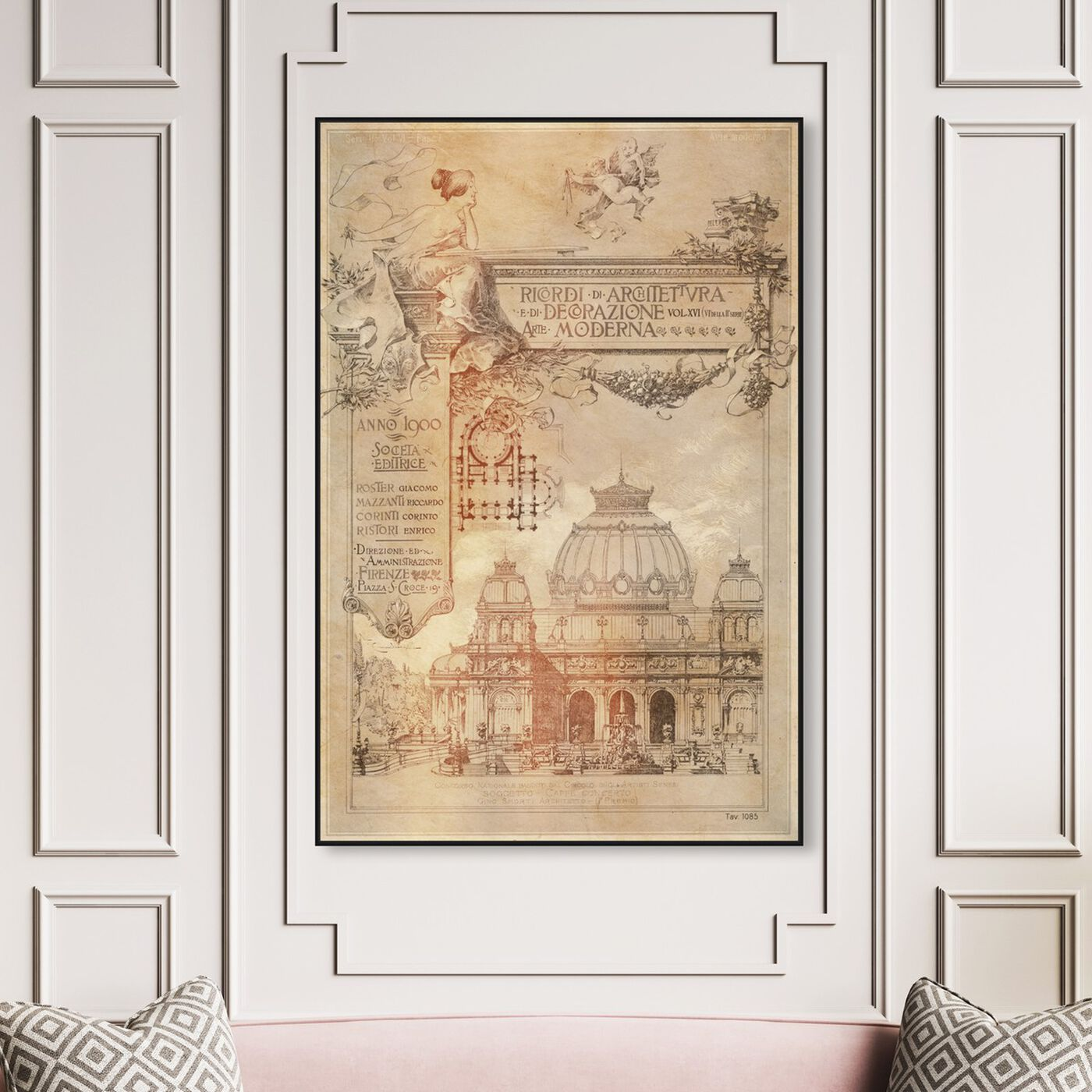 Hanging view of Decorazione Moderna featuring architecture and buildings and european buildings art.