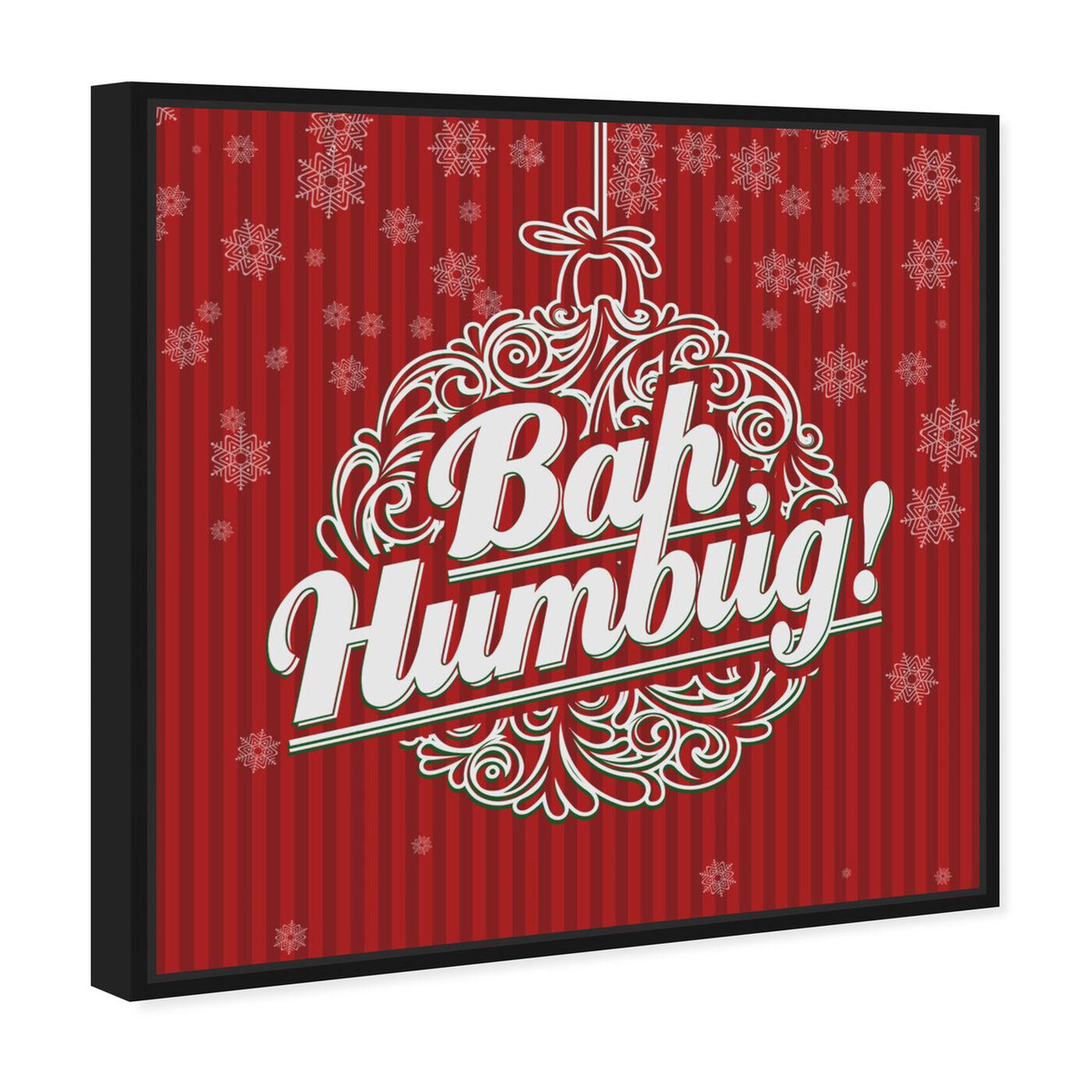 Angled view of Bah Humbug featuring holiday and seasonal and holidays art.