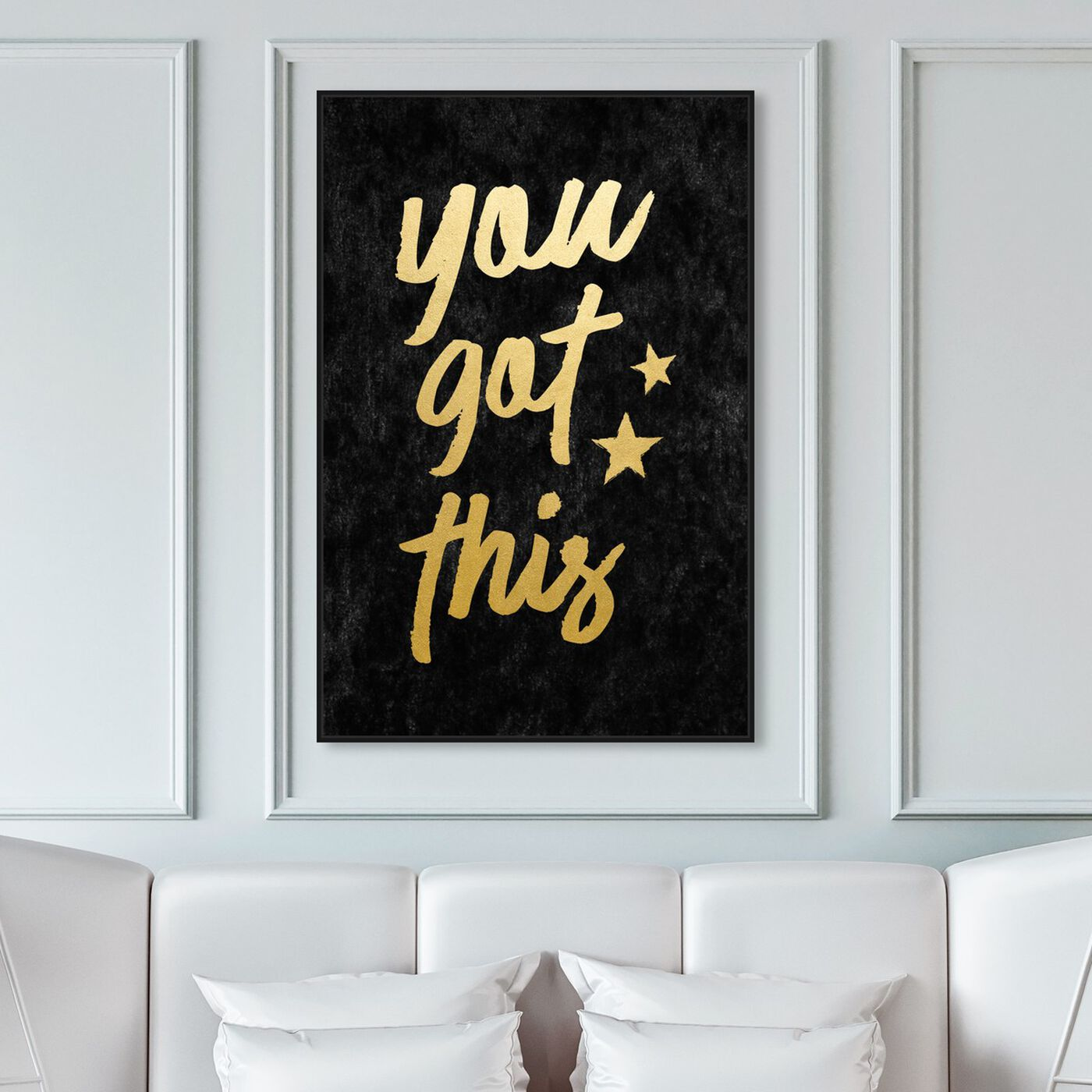 Hanging view of You Got This Velvet featuring typography and quotes and motivational quotes and sayings art.