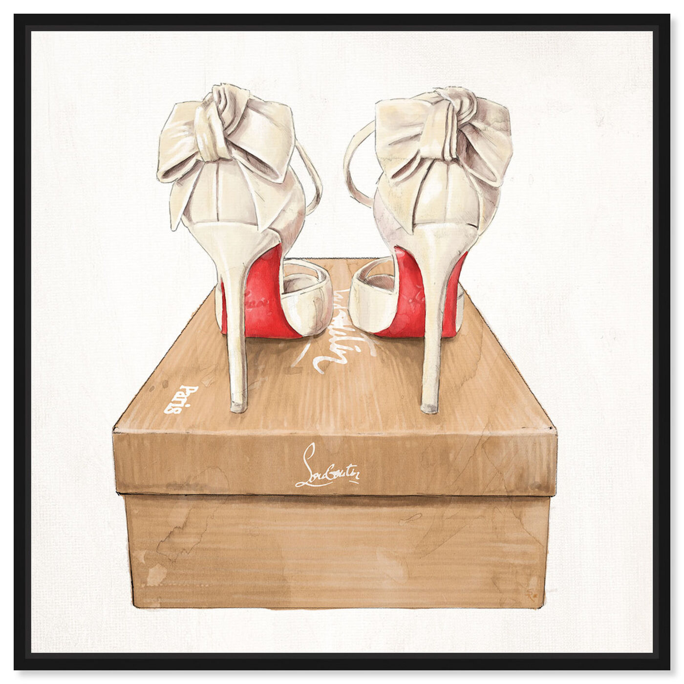 Front view of Wedbliss Shoes I featuring fashion and glam and shoes art.