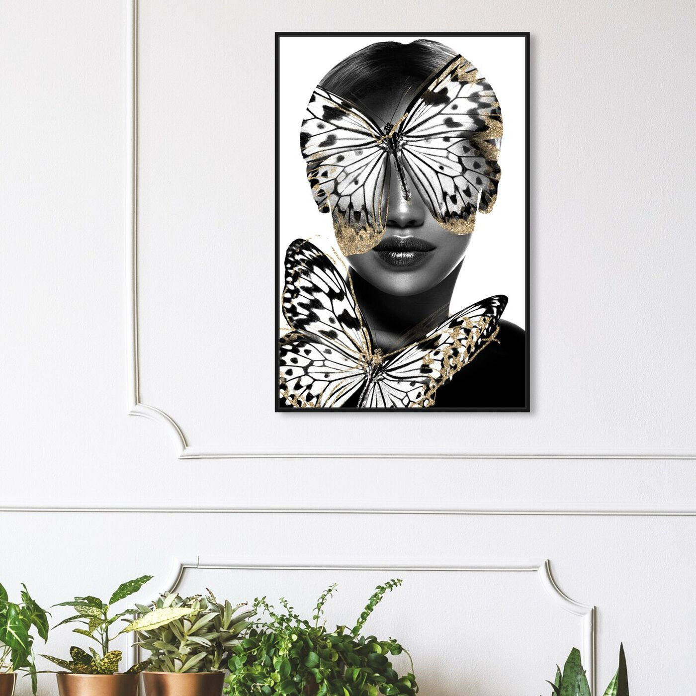 Hanging view of Royalty of Monarch Wings featuring fashion and glam and portraits art.