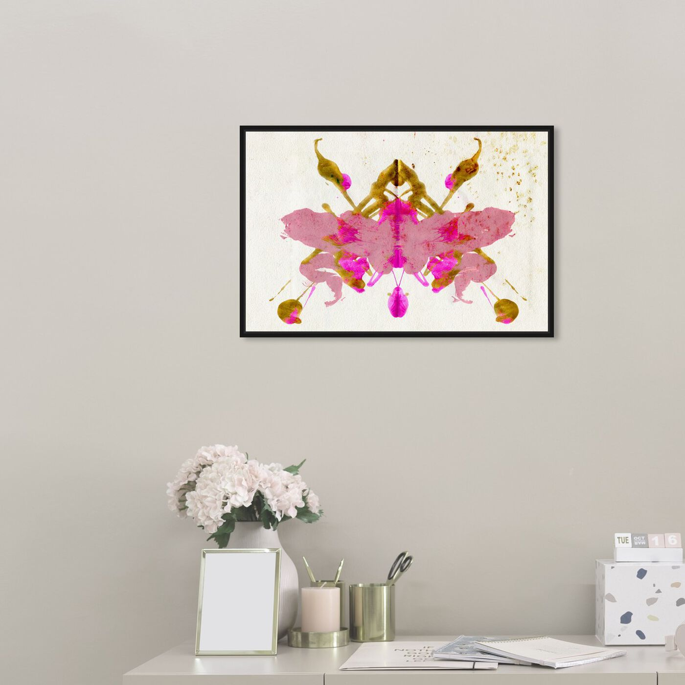 Hanging view of Calypso Butterfly featuring abstract and paint art.