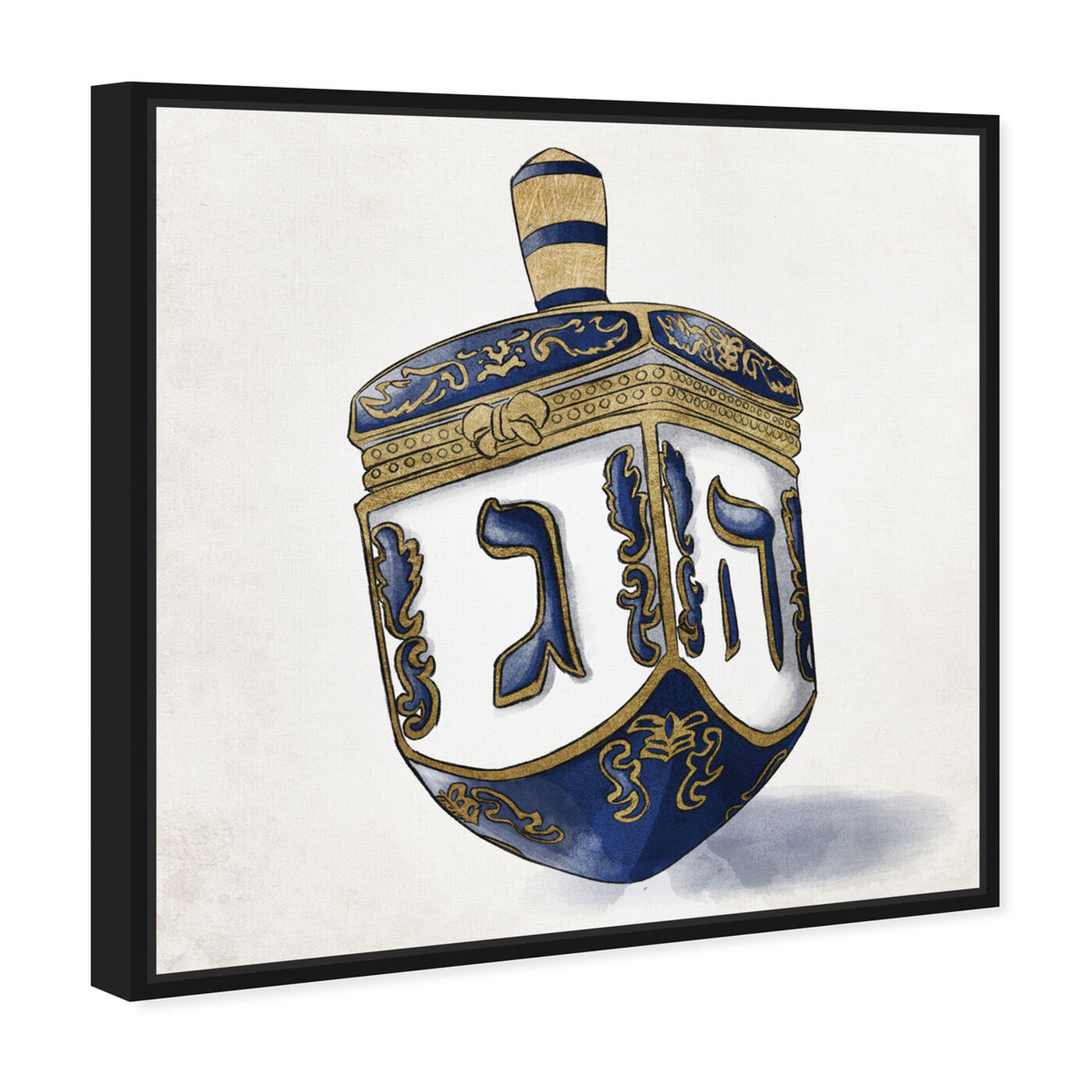 Angled view of Decorated Dreidel Artwork featuring entertainment and hobbies and board games art.