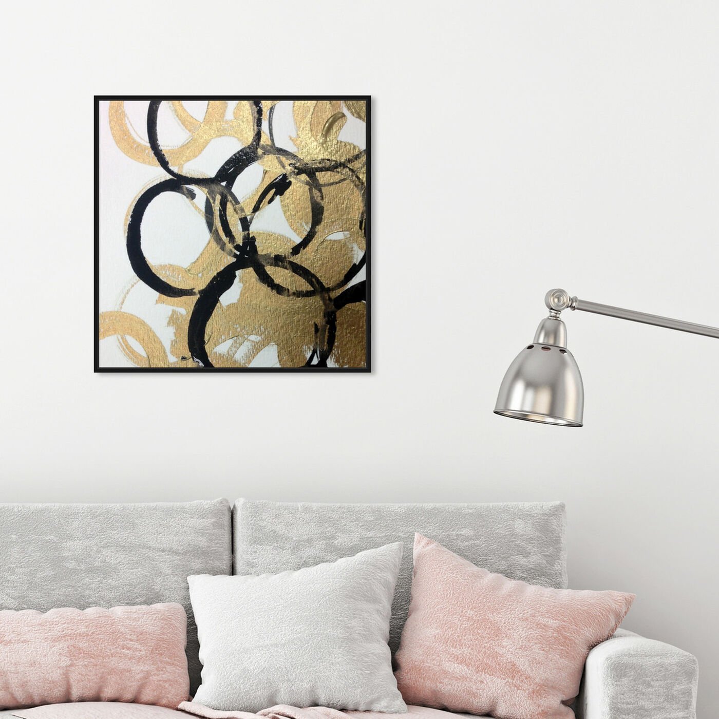 Hanging view of Burana featuring abstract and shapes art.