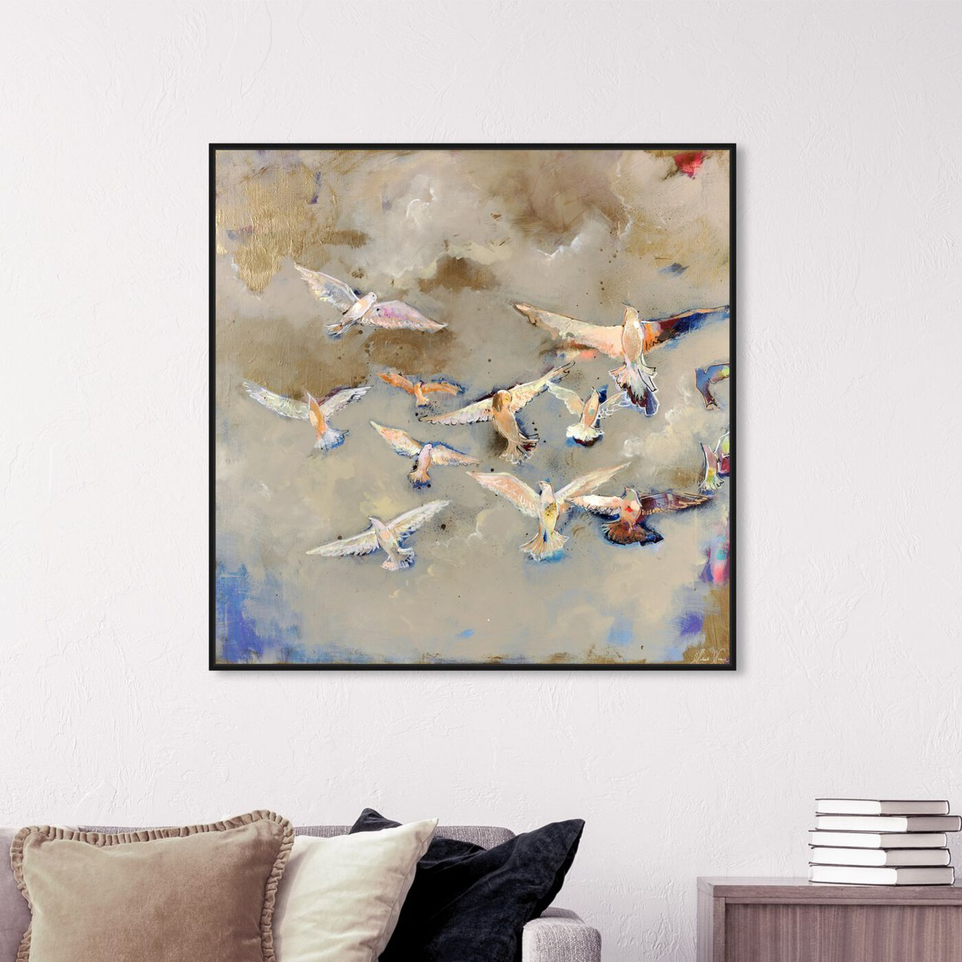 Hanging view of You Will Find Your Way by Michaela Nessim featuring animals and birds art.