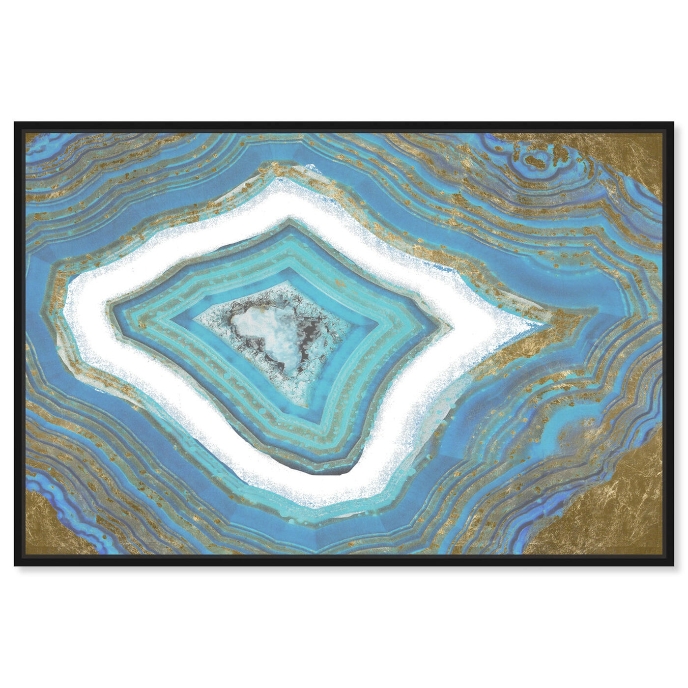 Front view of Rochester Geode featuring abstract and crystals art.