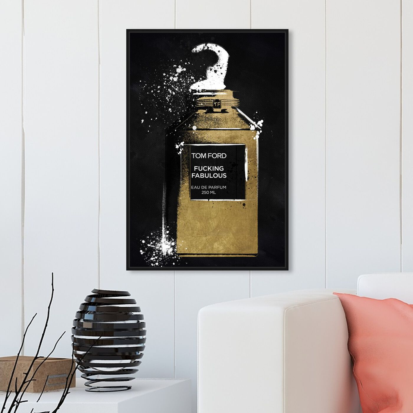 Hanging view of Fabulous Noir Perfume featuring fashion and glam and perfumes art.