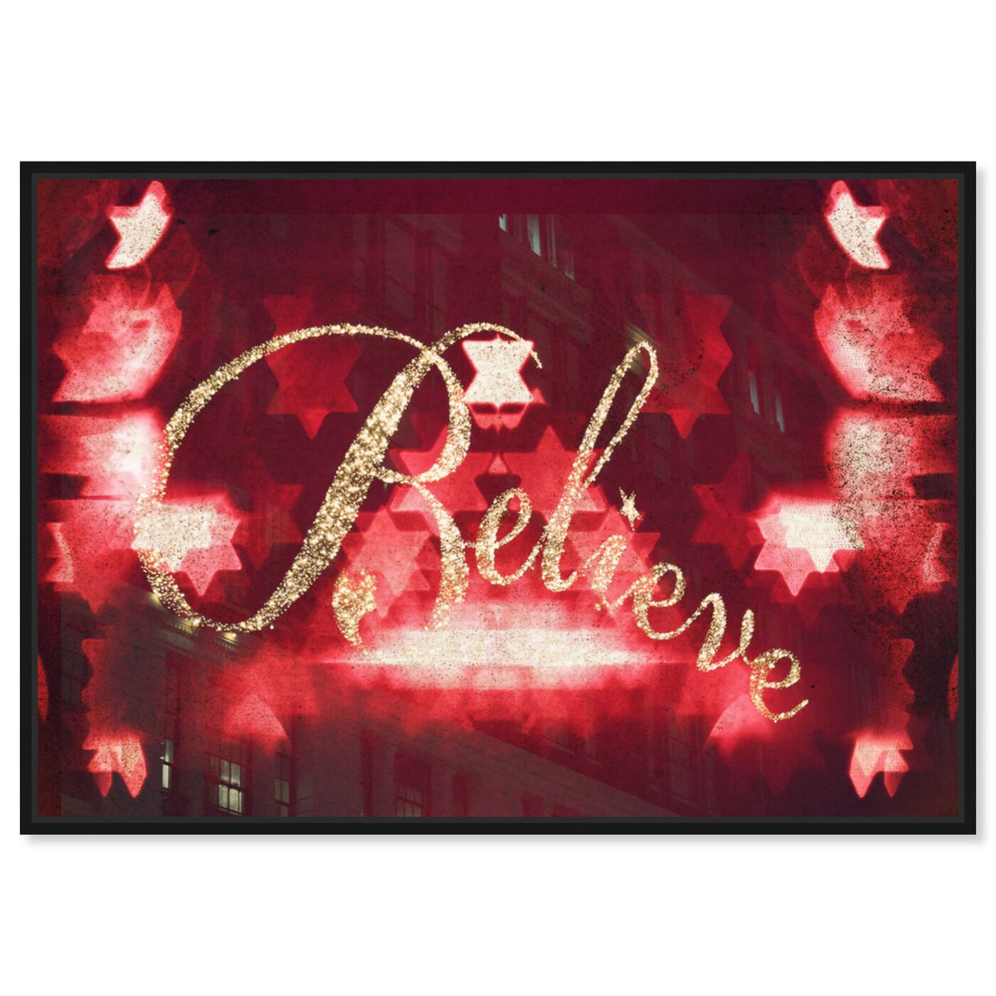 Front view of Believe featuring typography and quotes and quotes and sayings art.
