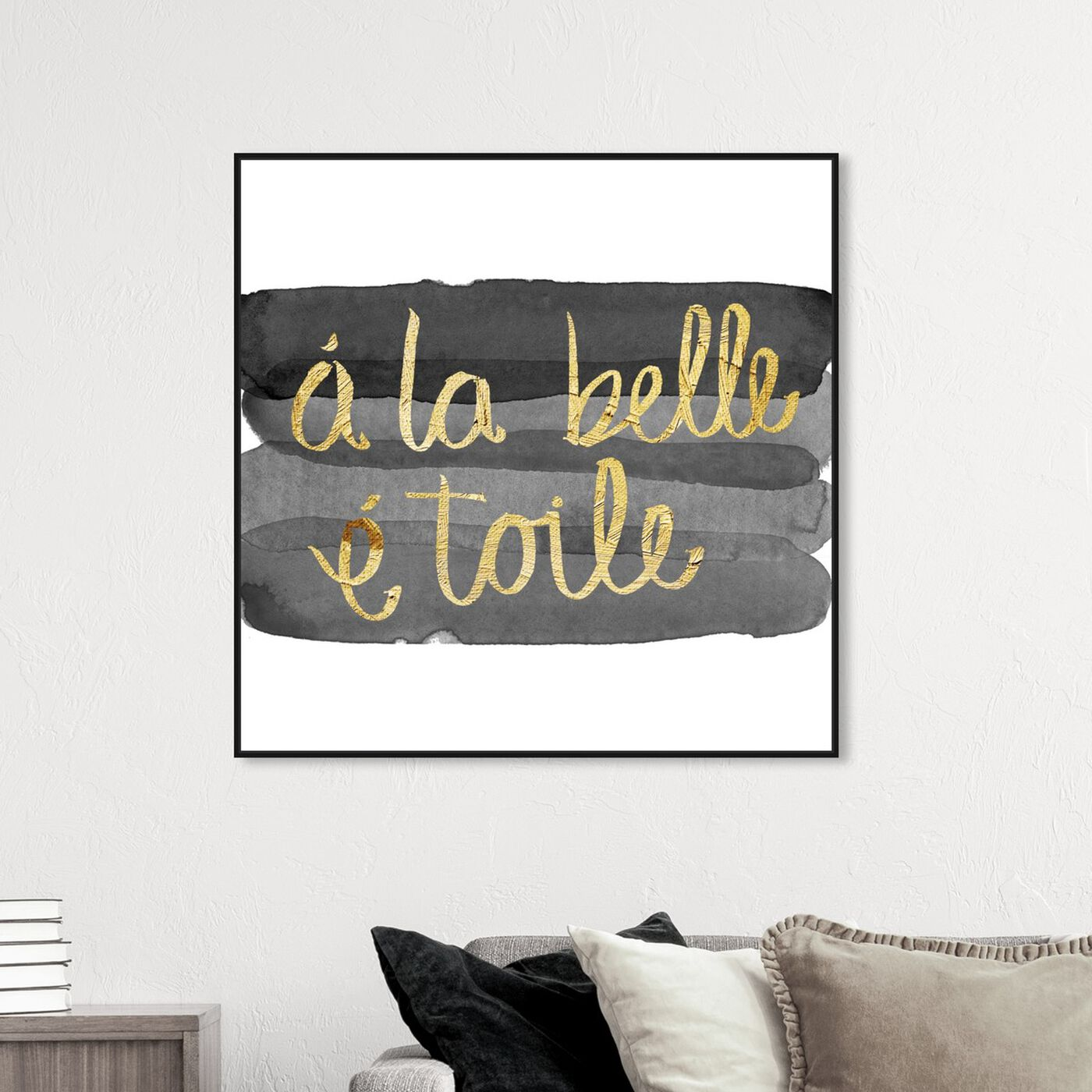 Hanging view of Beautiful Stars featuring typography and quotes and beauty quotes and sayings art.