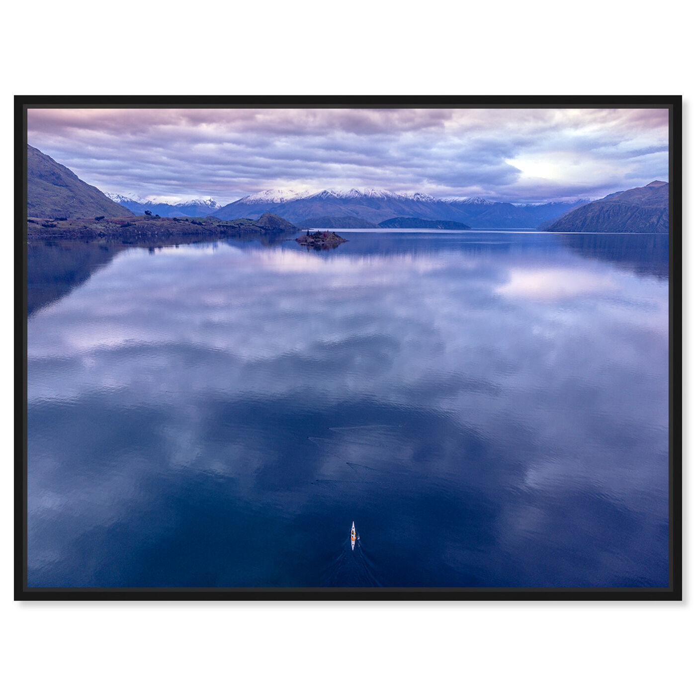 Front view of Curro Cardenal - Rowing Breath II featuring nature and landscape and mountains art.