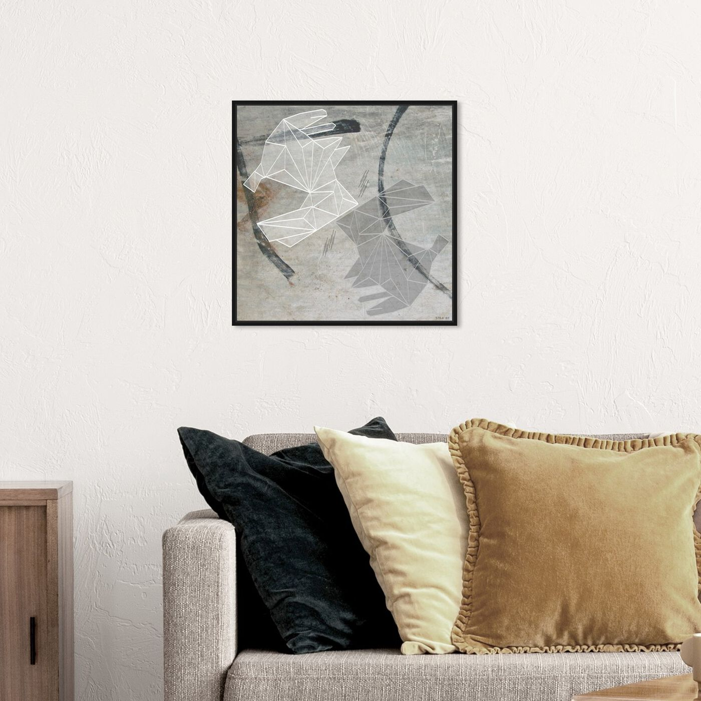 Hanging view of Bissous du Lapin featuring abstract and geometric art.