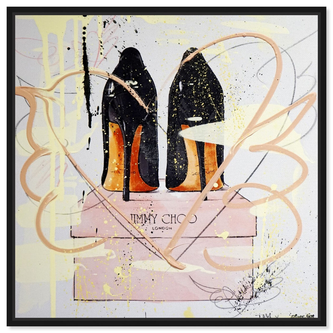 Front view of Night Out Stilettos Remix featuring fashion and glam and shoes art.