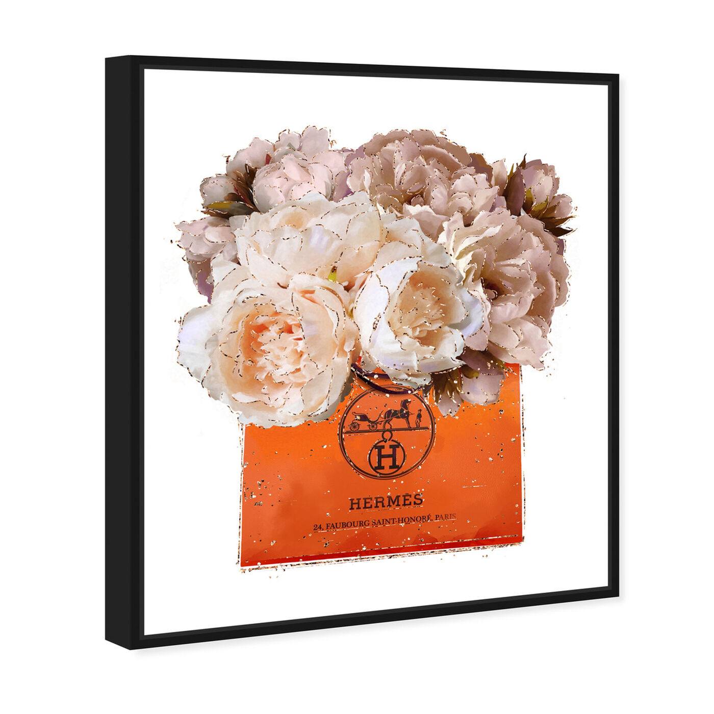 Angled view of Tangerine For You Peony featuring fashion and glam and lifestyle art.