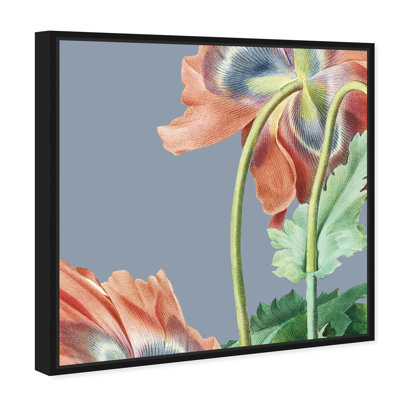 Angled view of Flower I featuring floral and botanical and florals art.