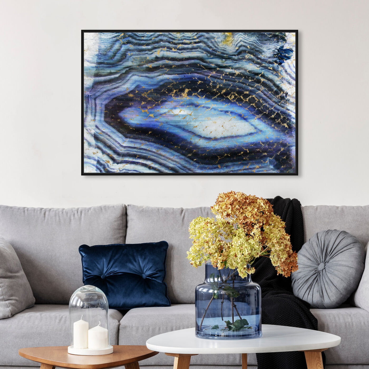 Hanging view of Sea of Gold featuring abstract and crystals art.