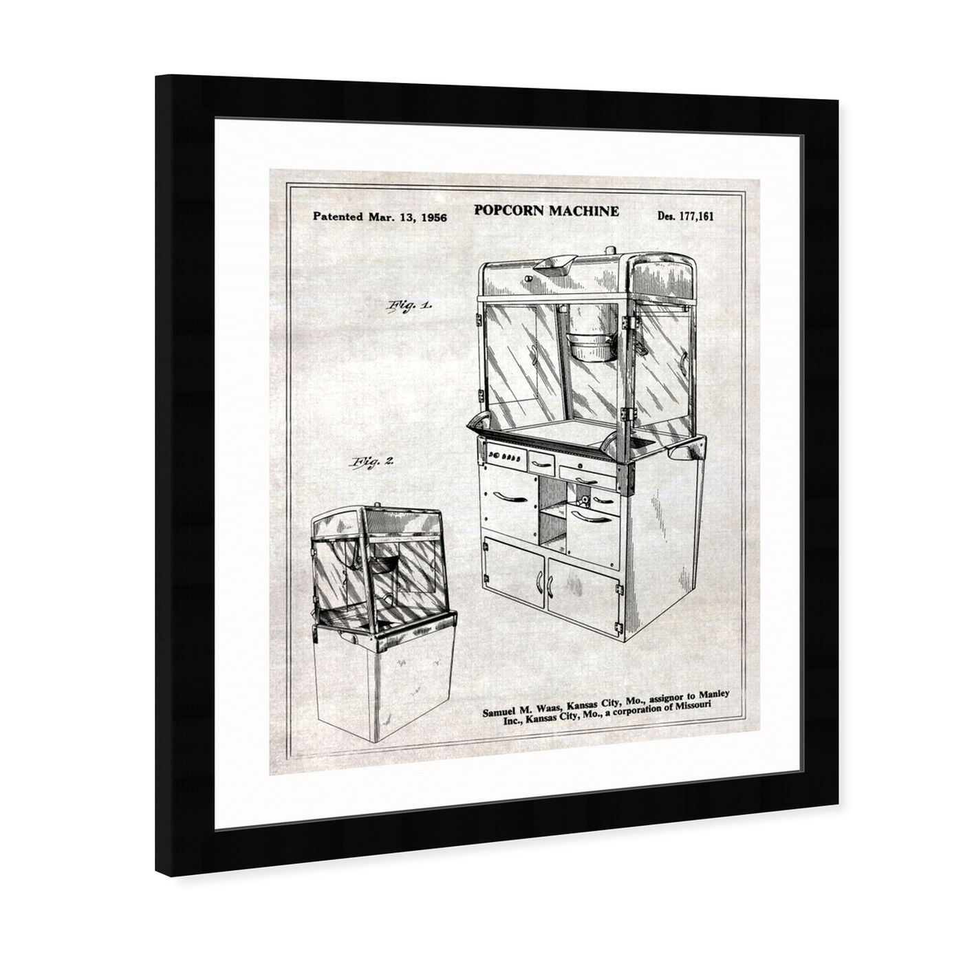 Angled view of Popcorn Machine 1956 featuring food and cuisine and food art.