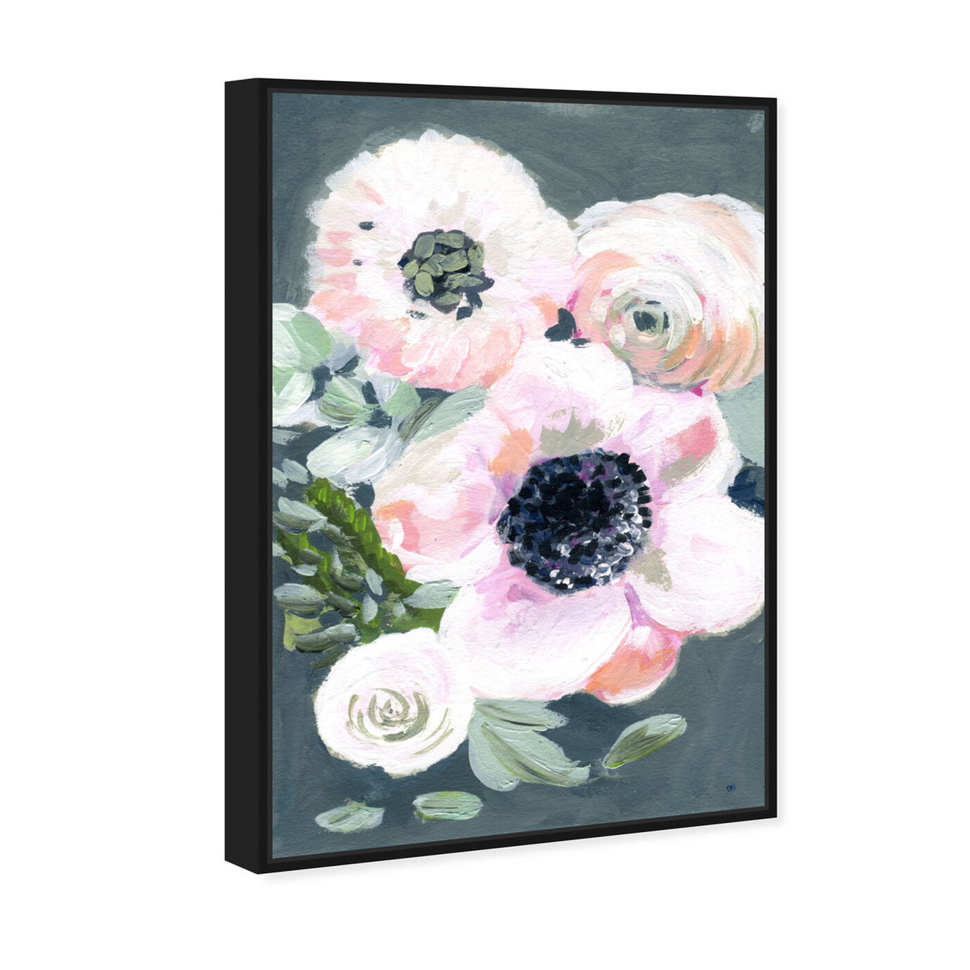 Angled view of Vintage Gathers featuring floral and botanical and florals art.