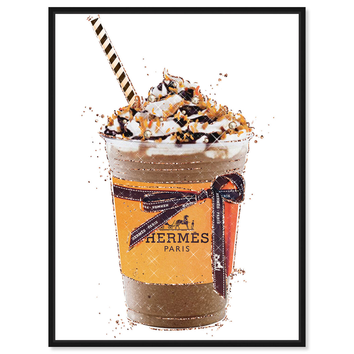 Front view of Caramel Amber Drink featuring fashion and glam and lifestyle art.