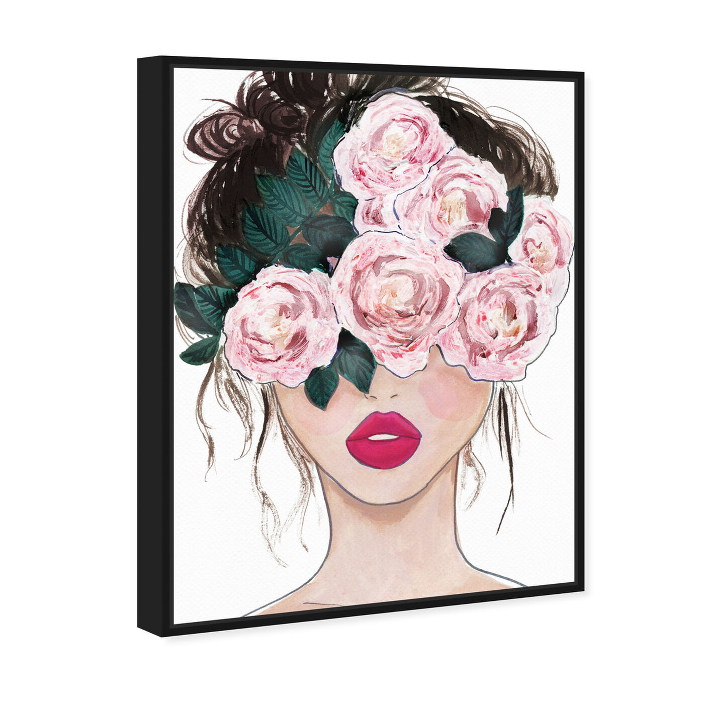 Angled view of Flower Blind featuring floral and botanical and florals art.