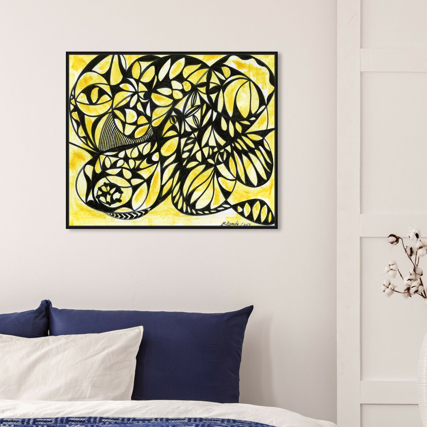 Hanging view of Honeycombs featuring abstract and shapes art.