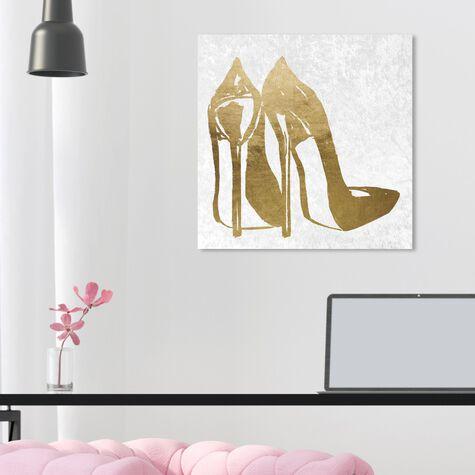 Gold and Velvet Heels