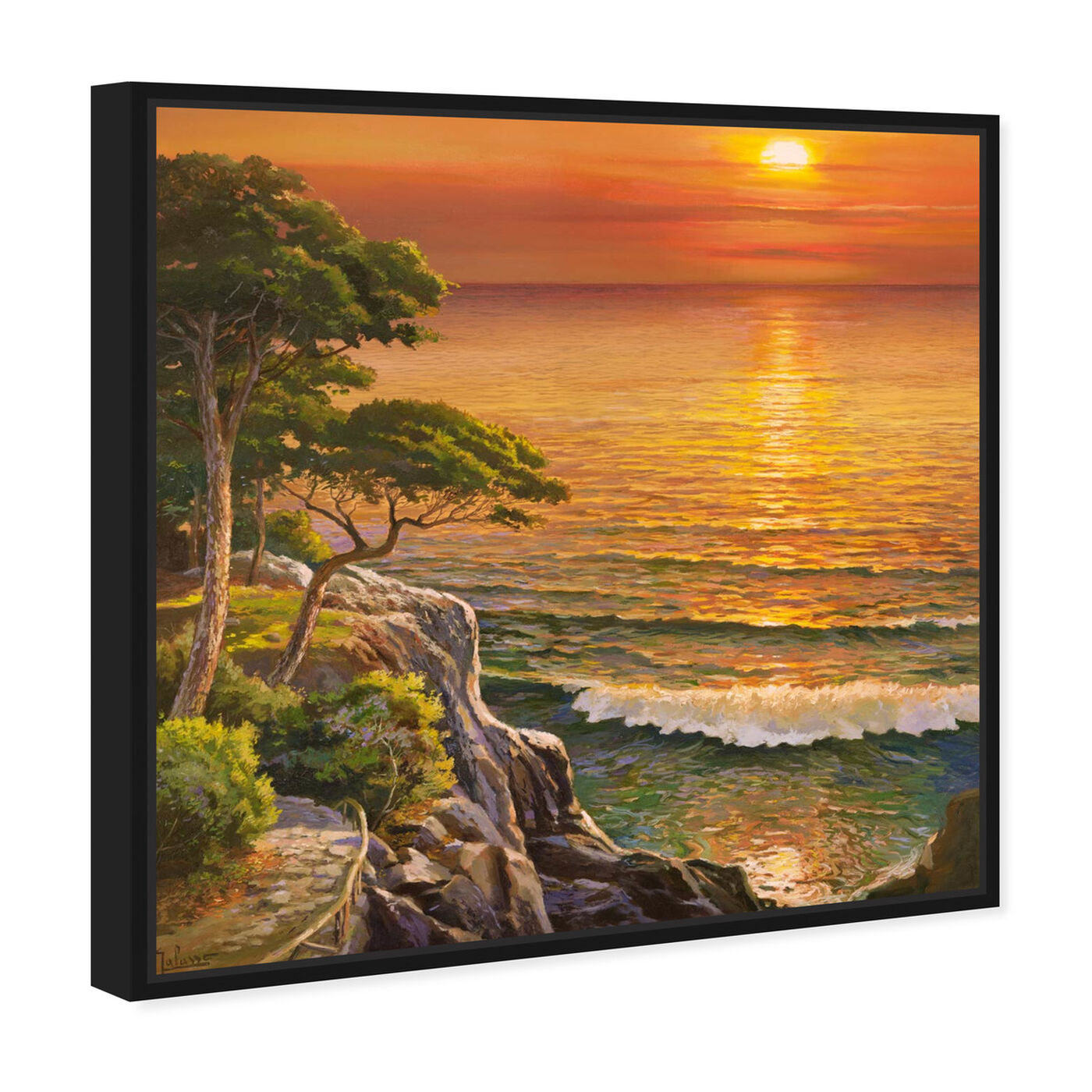 Angled view of Sai - Sunset Visage 1AD2552 featuring nature and landscape and sunrise and sunsets art.