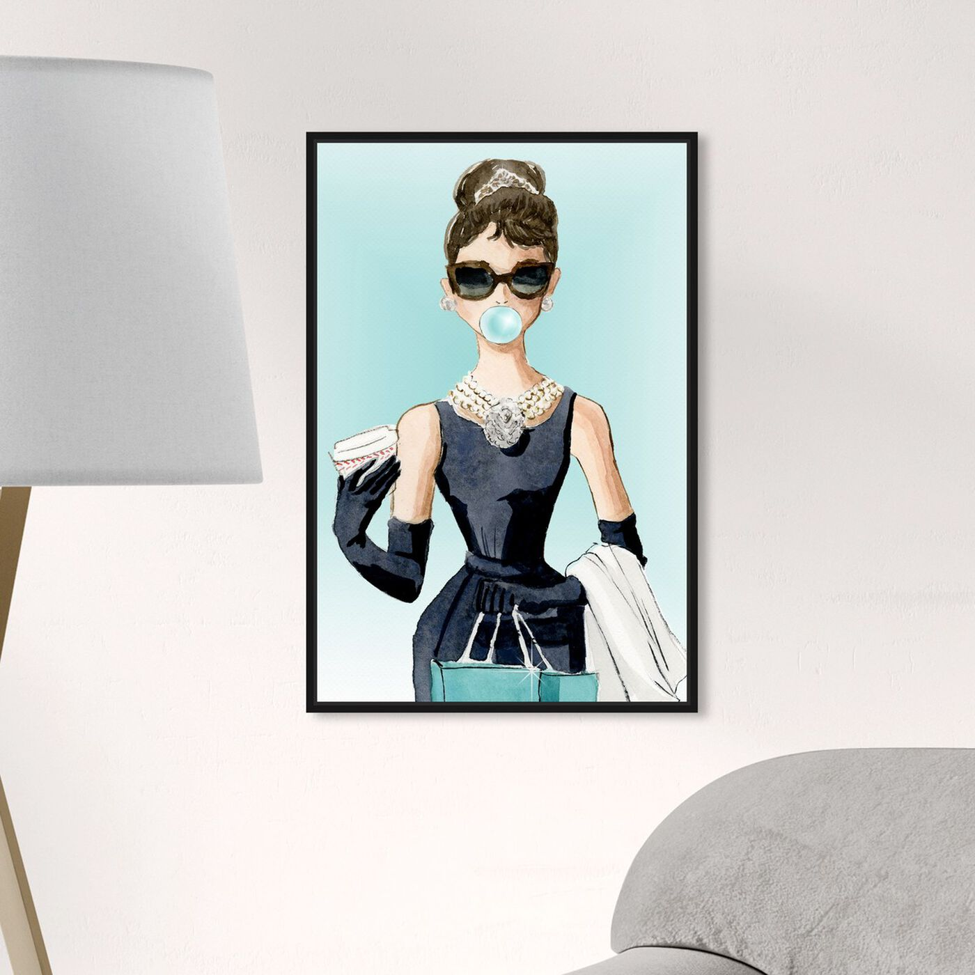 Hanging view of Bubble Gum and Diamonds featuring people and portraits and celebrities art.
