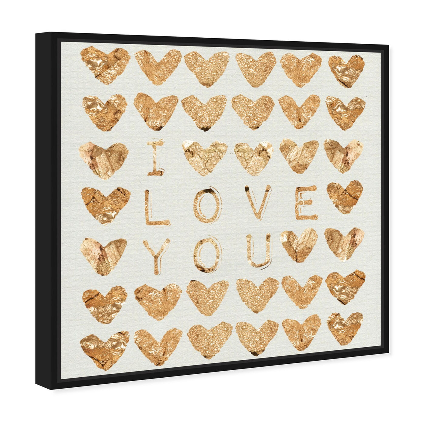 Angled view of I Love You Gold featuring fashion and glam and hearts art.