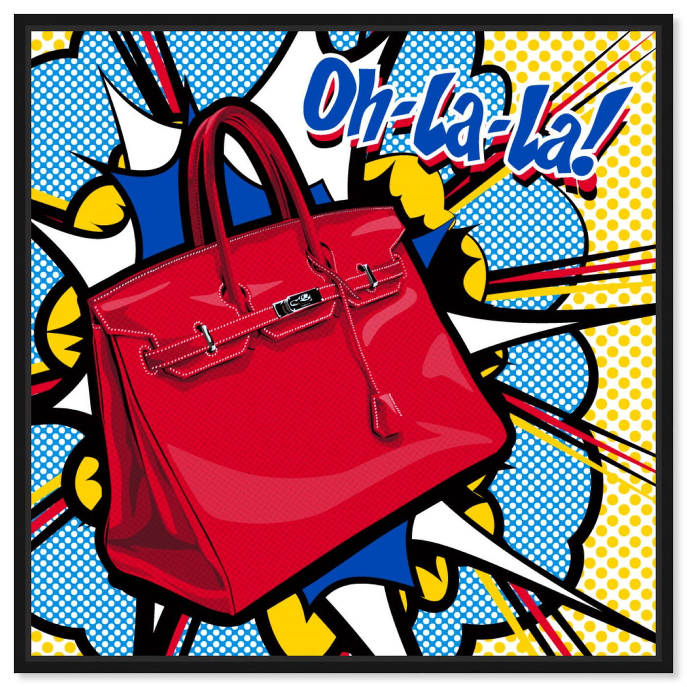Front view of Oh La La featuring fashion and glam and handbags art.