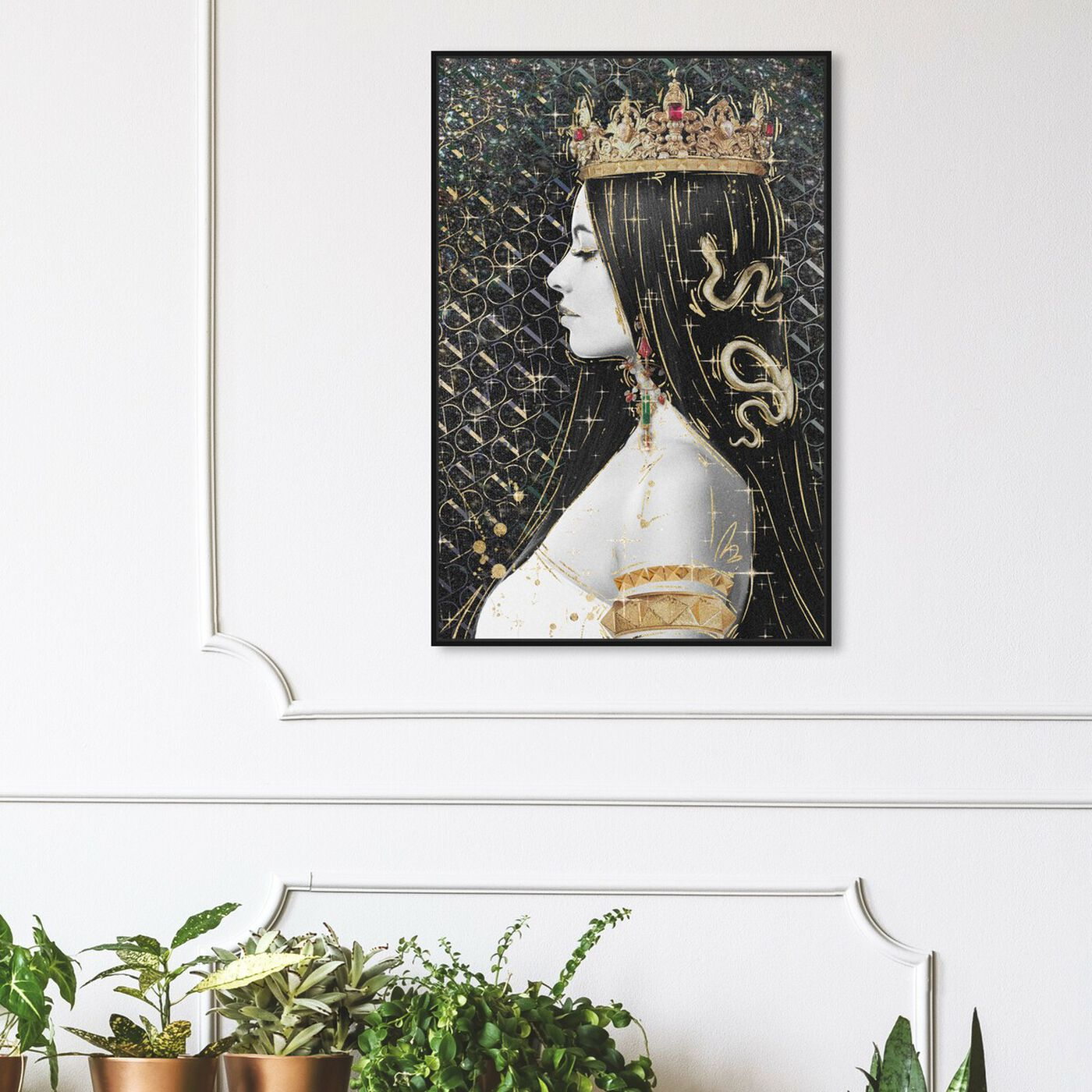 Hanging view of Crown and Young featuring fashion and glam and jewelry art.