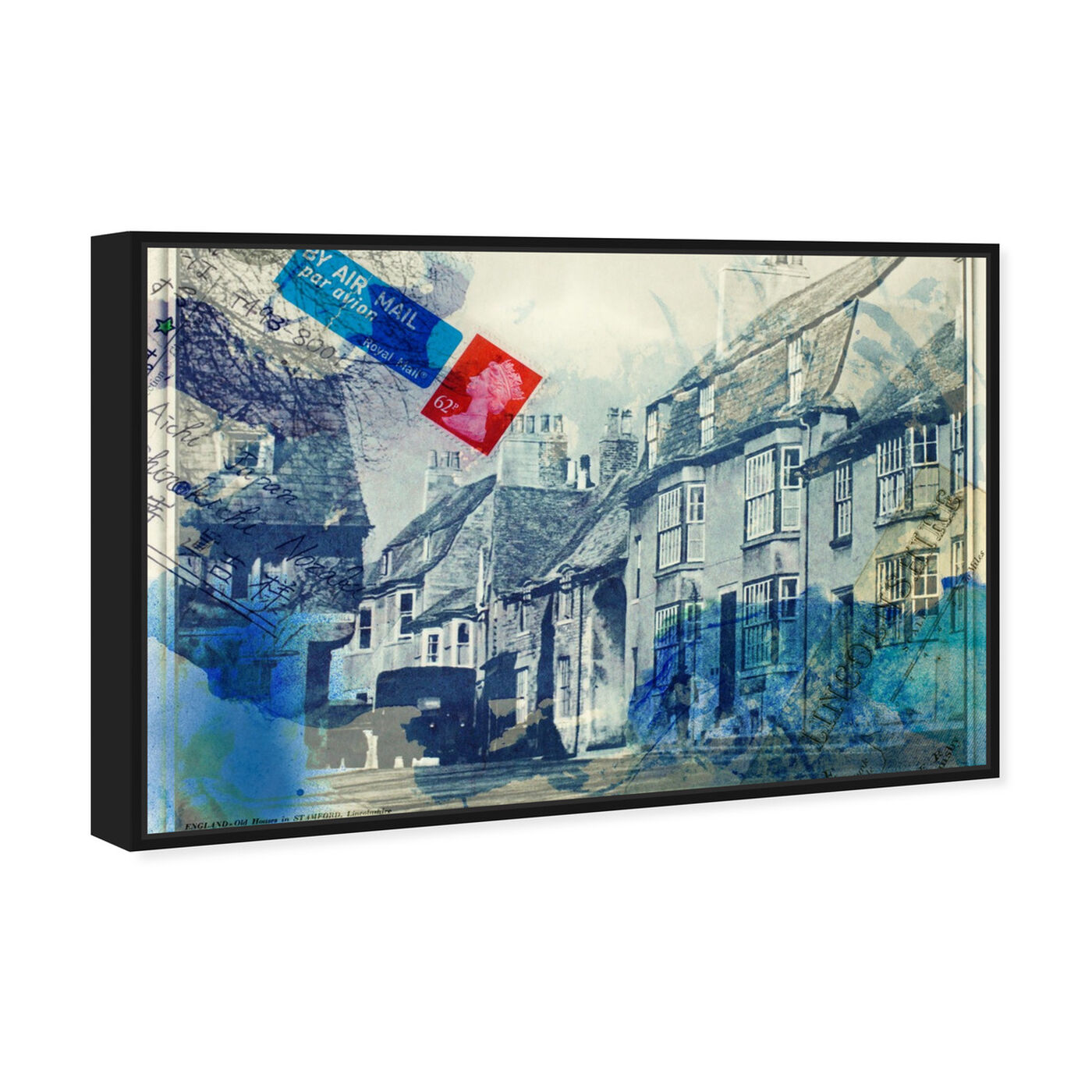 Angled view of Stamford Lincolnshire featuring architecture and buildings and european buildings art.
