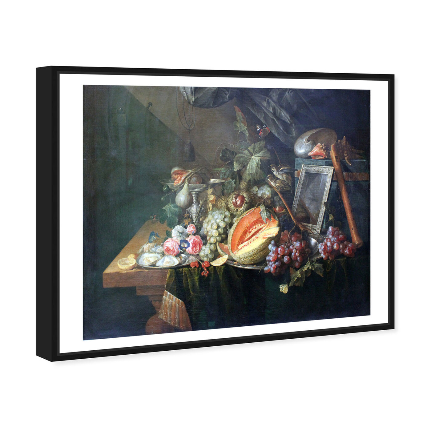 Angled view of Heem - Sumptuous Still Life featuring classic and figurative and classical figures art.