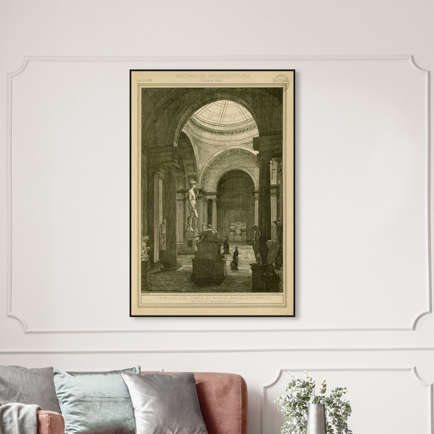 Hanging view of Tribuna del David di Michelancelo - The Art Cabinet featuring architecture and buildings and structures art.