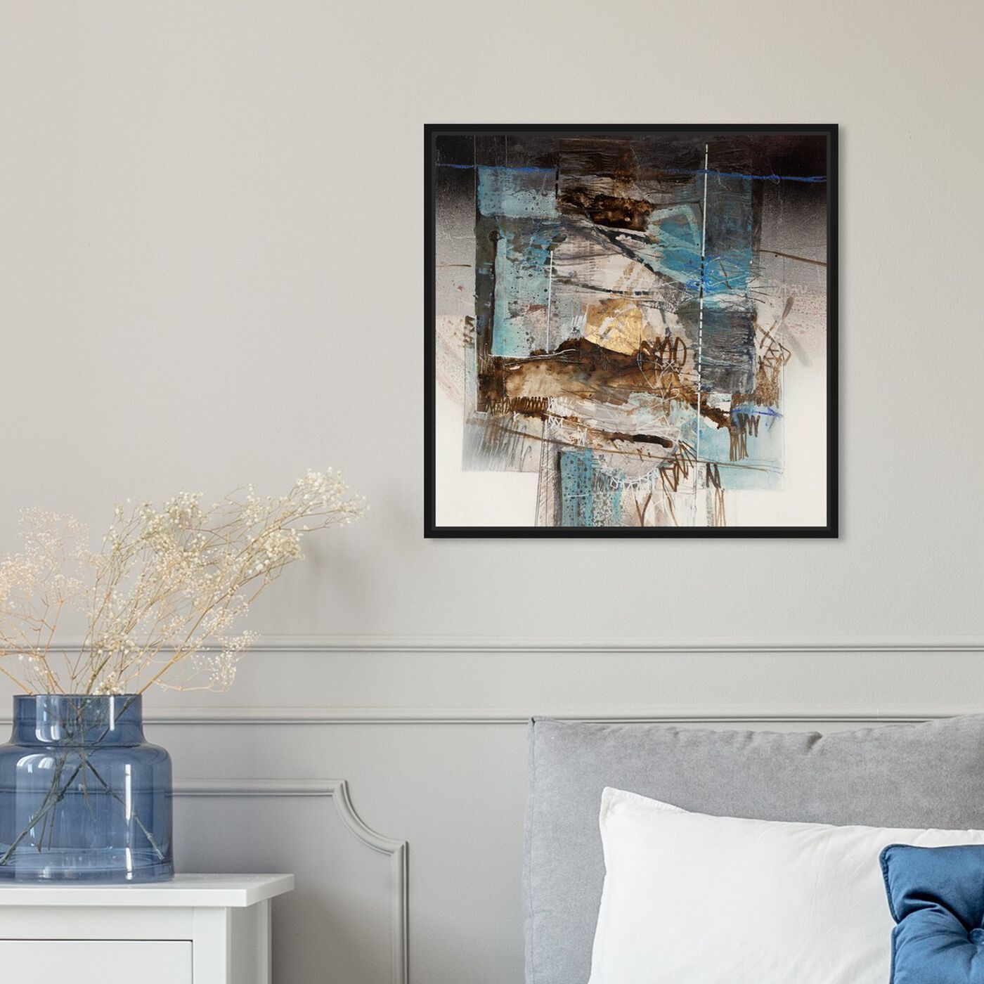 Hanging view of SAI - Industrial Geo II featuring abstract and geometric art.