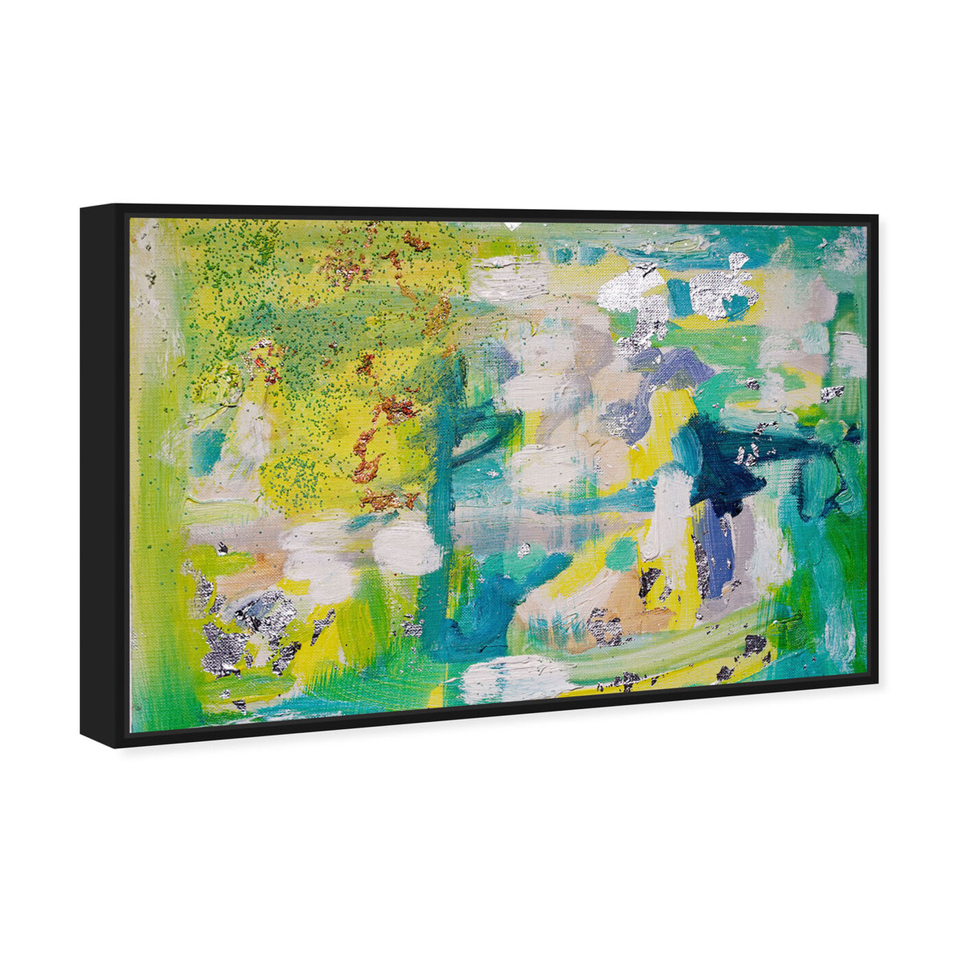 Angled view of Fresh Awakening by Tiffany Pratt featuring abstract and paint art.