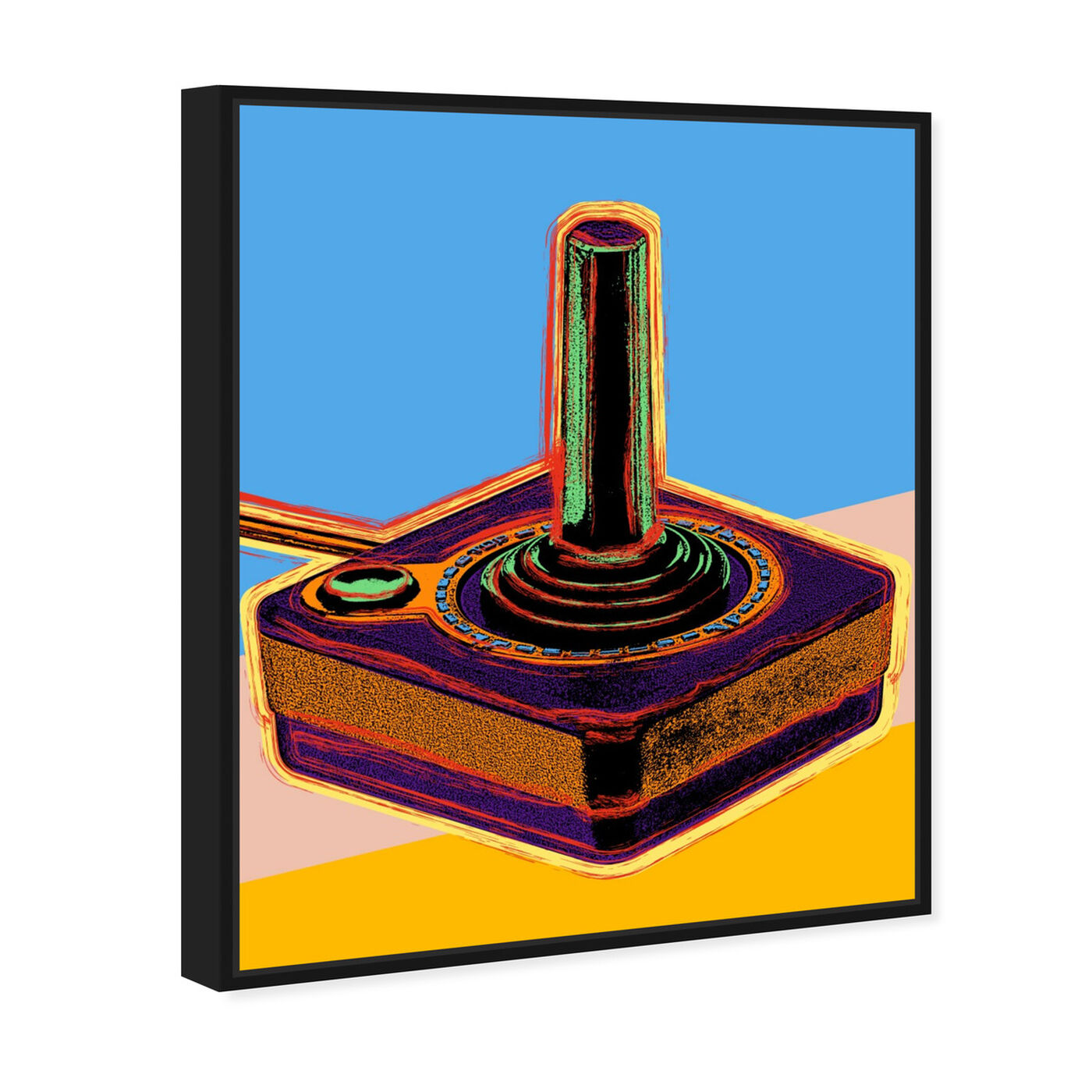Angled view of Warhol style Joystick featuring entertainment and hobbies and video games art.