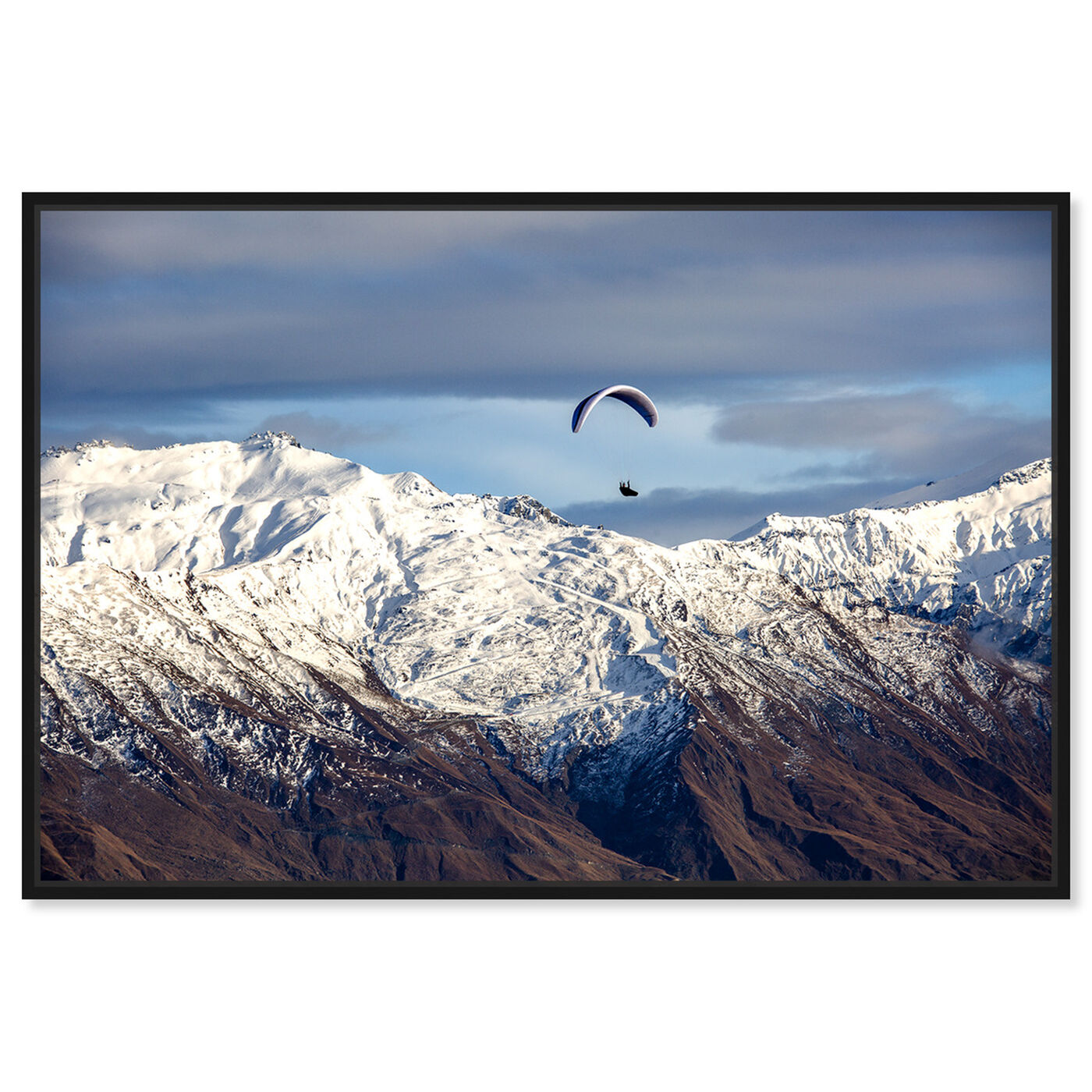 Front view of Curro Cardenal - Paragliding Free featuring nature and landscape and mountains art.