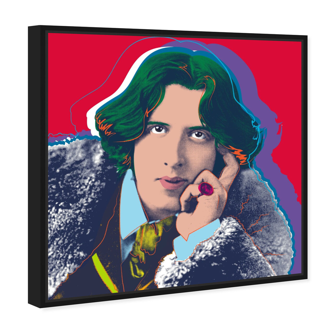 Angled view of Oscar Wilde featuring people and portraits and celebrities art.