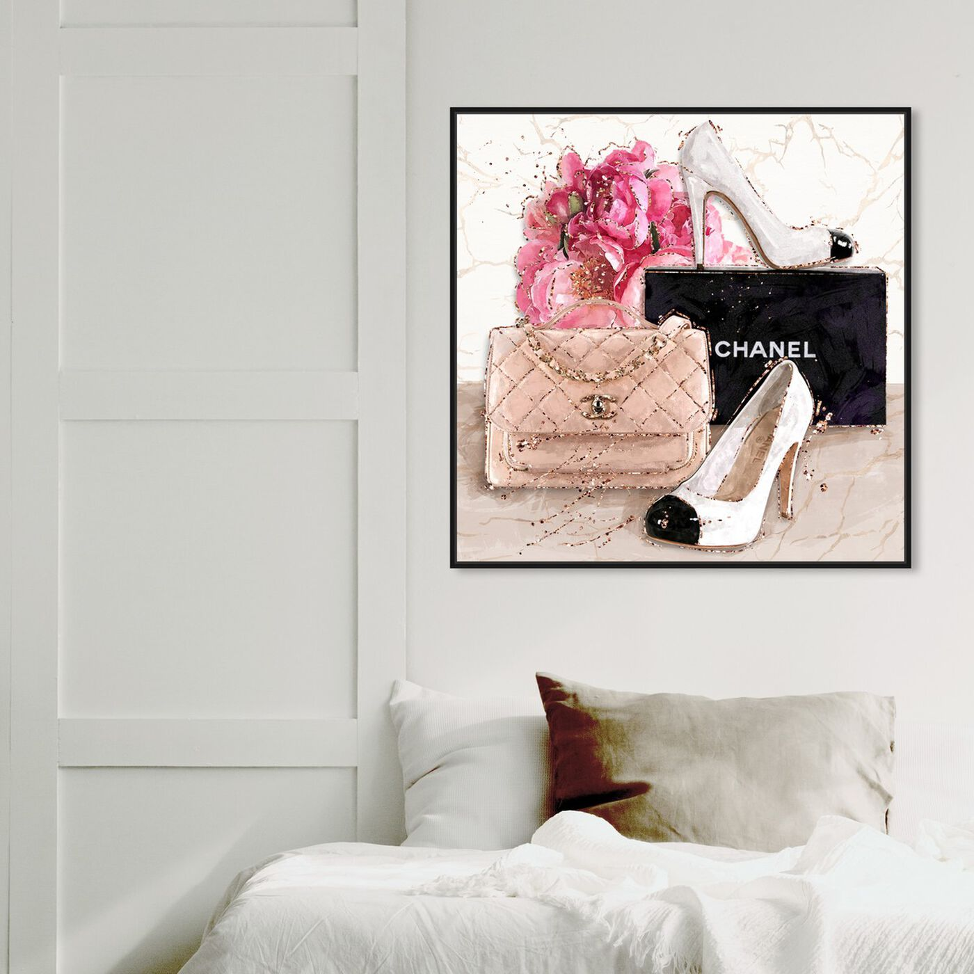 Hanging view of Her Treasures featuring fashion and glam and handbags art.