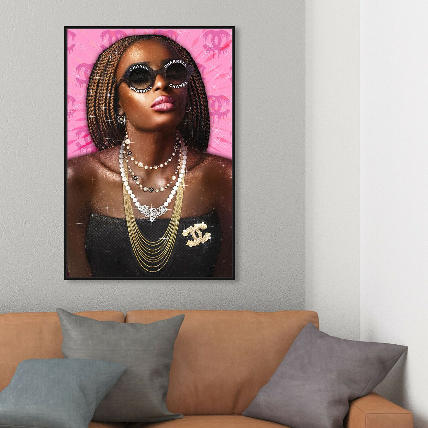 Hanging view of No Bothers Given featuring fashion and glam and jewelry art.