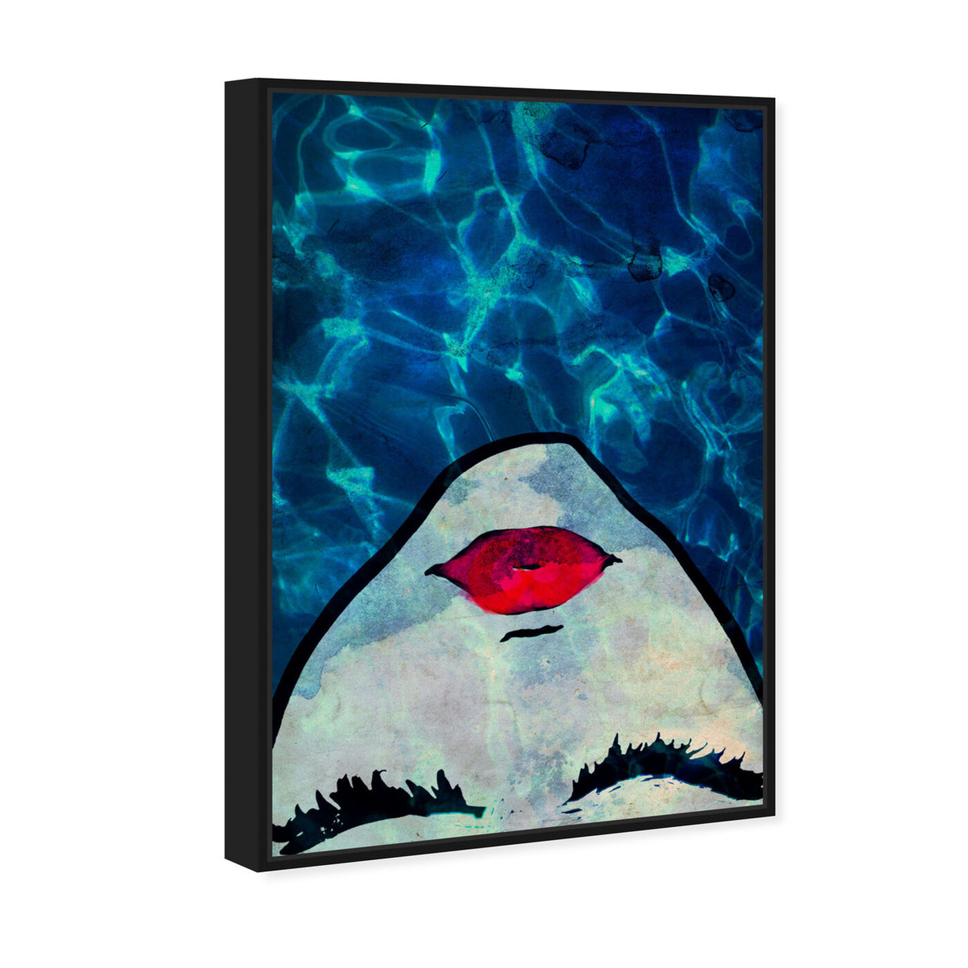Angled view of Water Coveted Blue featuring fashion and glam and portraits art.