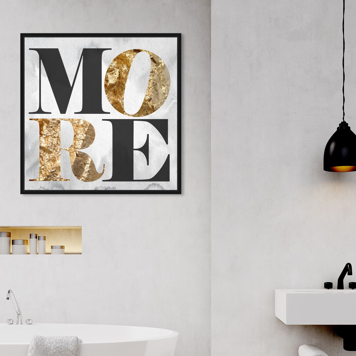 Hanging view of More Love featuring typography and quotes and inspirational quotes and sayings art.