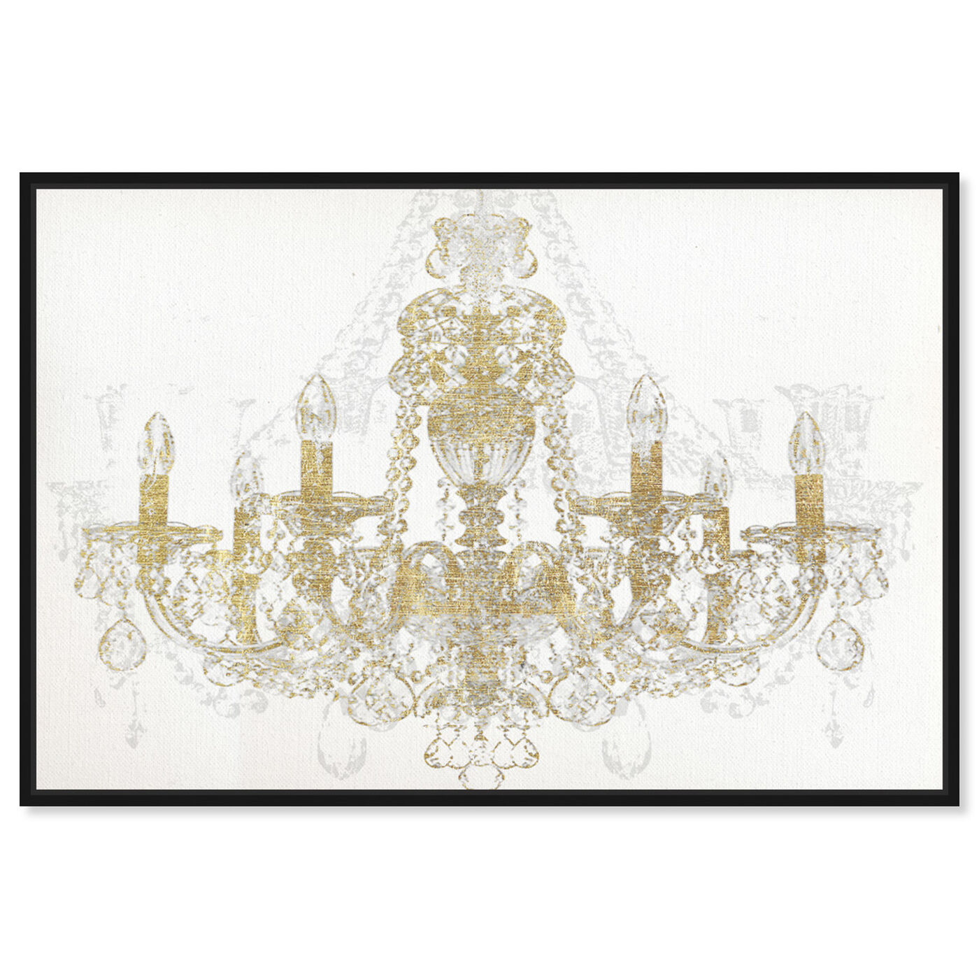 Front view of Chandelier Diamond featuring fashion and glam and chandeliers art.