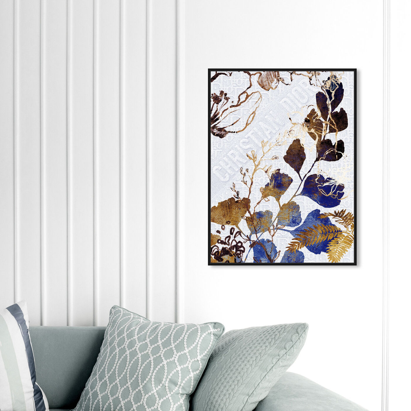 Hanging view of Indigo Blue Dreams featuring floral and botanical and botanicals art.