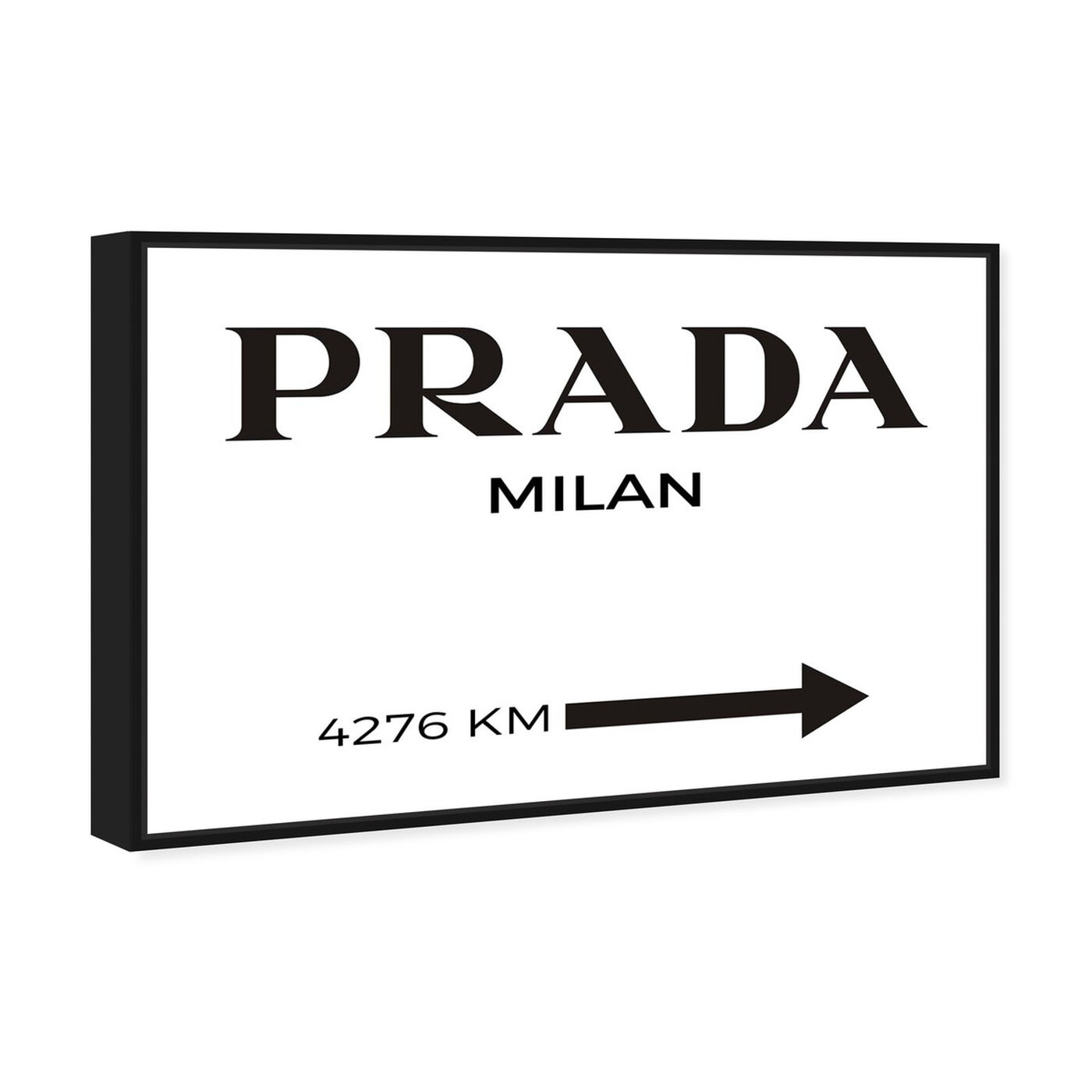Angled view of Milan Minimalist featuring fashion and glam and road signs art.