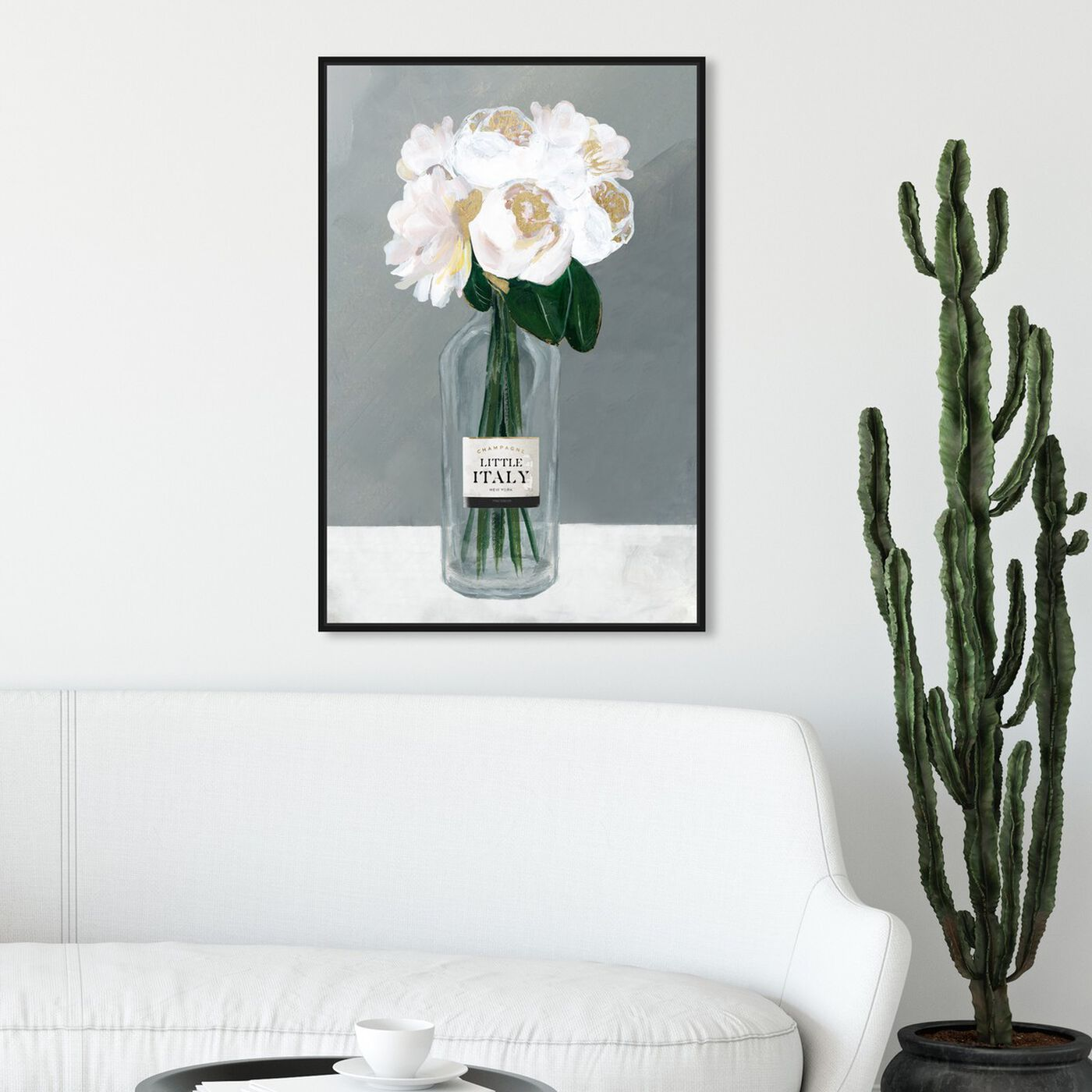 Hanging view of Little Italy Roses featuring floral and botanical and florals art.